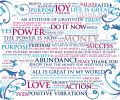 Blue powerwords canvas