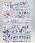Blue powerwords greeting card